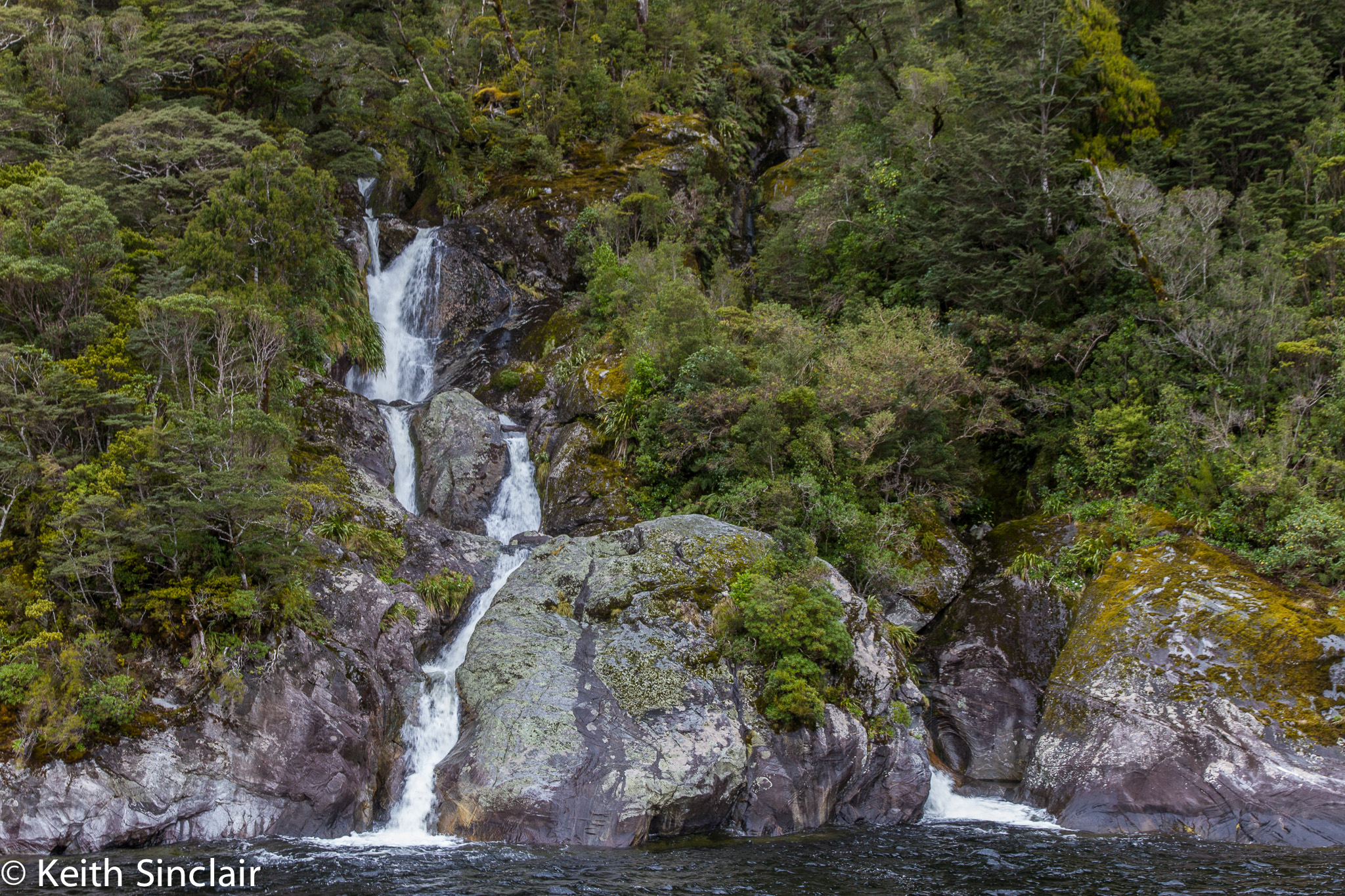 Doubtful Sound Waterfall to the Ocean