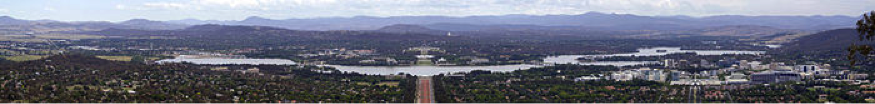 Lake Burley Griffin from Mt. Ainslie