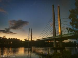 Sunrise over the Eleanor Schonell Bridge