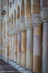 Sandstone Pillars of the Great Court